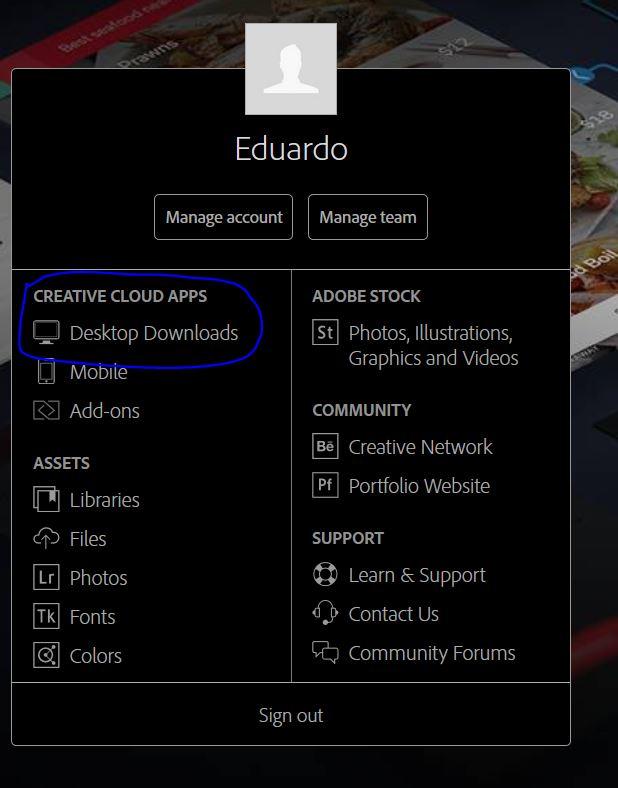 Download App da Adobe