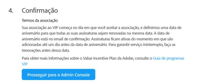 Finalizar ativação do Adobe creative cloud