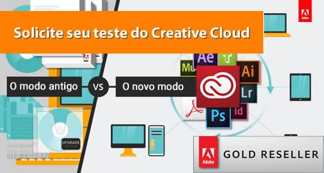 Solicite seu teste do Pacote Adobe