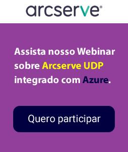 Webinar sobre Arcserve UDP com Azure.