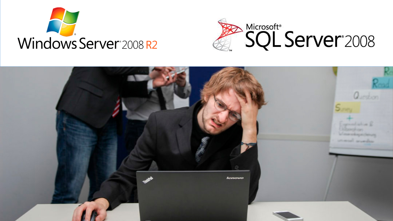 Fim do suporte do Windows Server 2008 e do SQL Server 2008